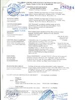 Gost Certificate (Fibercement)
